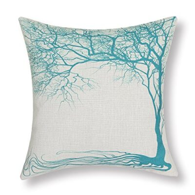 Euphoria Home Decorative Cushion Covers Pillows Shell Cotton Linen Blend Vintage Big Old Tree Teal Color 45 X 45cm CaliTime Cushion Cover Throw Pillow Shell Vintage Big Old Tree 45 X 45cm Teal Euphoria Home Decorative Cushion Covers Pillows Shell Cotton Linen Blend Big Old Tree Teal 18 X 18 0 400x400