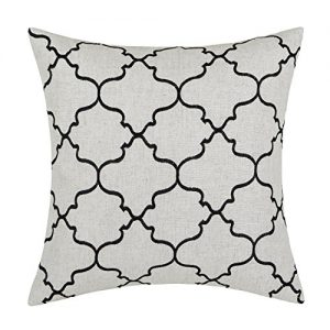 Euphoria Home Decorative Cushion Covers Pillows Shell Linen Blend Embroidery Big Trellis Chain Accent Black 43 X 43cm Euphoria CaliTime Home Decor Cushion Covers Throw Pillows Shell Linen Blend Embroidery Trellis Chain Accent 43 X 43cm Dark Grey Euphoria Home Decorative Cushion Covers Pillows Shell Linen Blend Embroidery Big Trellis Chain Accent Black 17 X 17 0 300x300