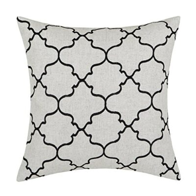 Euphoria Home Decorative Cushion Covers Pillows Shell Linen Blend Embroidery Big Trellis Chain Accent Black 43 X 43cm Euphoria CaliTime Home Decor Cushion Covers Throw Pillows Shell Linen Blend Embroidery Trellis Chain Accent 43 X 43cm Dark Grey Euphoria Home Decorative Cushion Covers Pillows Shell Linen Blend Embroidery Big Trellis Chain Accent Black 17 X 17 0 400x400