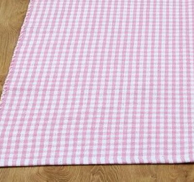 Homescapes 100% Cotton Gingham Check Rug Hand Woven Pink White 60 x 90 cm Washable at Home Kids Room or Bath Mat Homescapes 100% Cotton Gingham Check Rug Hand Woven Pink White 60 x 90 cm Washable at Home Kids Room or Bath Mat Homescapes 100 Cotton Gingham Check Rug Hand Woven Pink White 60 x 90 cm Washable at Home Kids Room or Bath Mat 0 400x375
