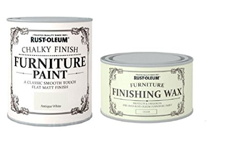 Rust-Oleum Chalk Antique White Matt Furniture Paint 750ml Plus Furniture Wax Rust-Oleum Chalk Antique White Matt Furniture Paint 750ml Plus Furniture Wax Rust Oleum Chalk Antique White Matt Furniture Paint 750ml Plus Furniture Wax 0