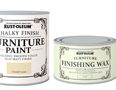 Rust-Oleum Chalk Clotted Cream Matt Furniture Paint 750ml Complete With furniture Wax Rust-Oleum Chalk Clotted Cream Matt Furniture Paint 750ml Complete With furniture Wax Rust Oleum Chalk Clotted Cream Matt Furniture Paint 750ml Complete With furniture Wax 0 400x308