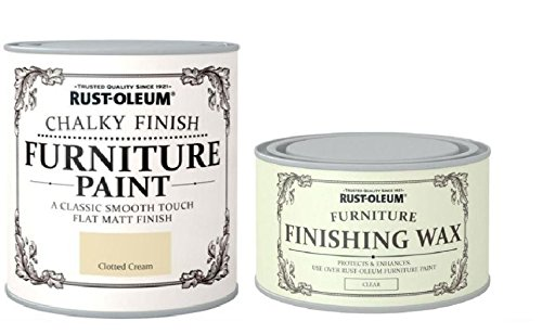 Rust-Oleum Chalk Clotted Cream Matt Furniture Paint 750ml Complete With furniture Wax Rust-Oleum Chalk Clotted Cream Matt Furniture Paint 750ml Complete With furniture Wax Rust Oleum Chalk Clotted Cream Matt Furniture Paint 750ml Complete With furniture Wax 0