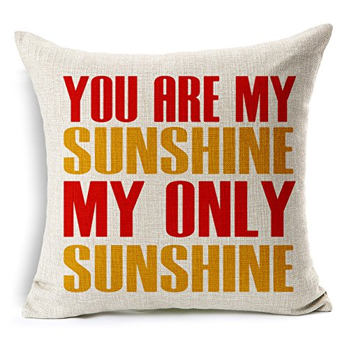 You are My Sunshine Printed Cotton Linen Decorative Pillow Cushion Cover, 17.7 x 17.7inches You are My Sunshine Printed Cotton Linen Decorative Pillow Cushion Cover, 17.7 x 17.7inches You are My Sunshine Printed Cotton Linen Decorative Pillow Cushion Cover 177 x 177inches 0