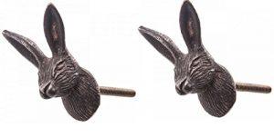 """2 pcs of """"Vintage Hare"""" Metallic Drawer Door Cupboard Knob Handles. 2 pcs of Vintage Hare Metallic Drawer Door Cupboard Knob Handles 0 300x151"""
