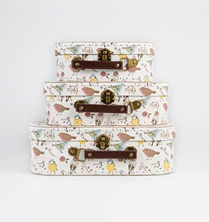 3 British Birds Suitcase Set Storage Boxes 3 British Birds Suitcase Set Storage Boxes 0