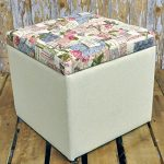 32cm Shabby Chic Floral Rose Cream Fabric Covered Footstool Storage Stool Box 32cm Shabby Chic Floral Rose Cream Fabric Covered Footstool Storage Stool Box 0 150x150