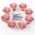 8PCS Pink Ceramic Vintage Floral Rose Door Knobs Handle Drawer Kitchen + Screw 8PCS Pink Ceramic Vintage Floral Rose Door Knobs Handle Drawer Kitchen Screw 0 150x150