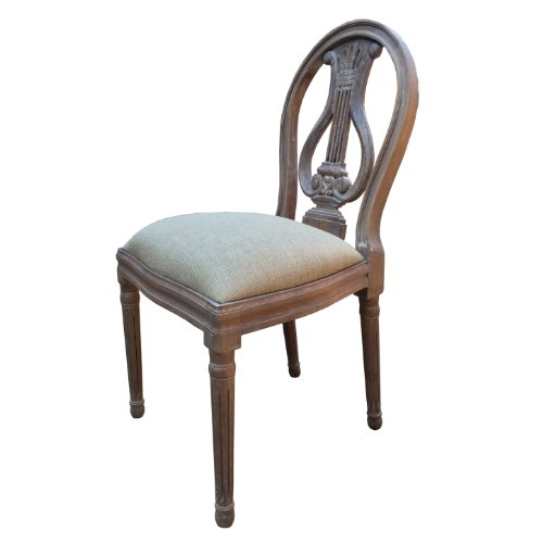 A French Style Shabby Chic Dining Chair in Ash Finish. Upholstery in Natural Linen Fabric. FULL RANGE OF MATCHING FURNITURE IS AVAILABLE FOR BEDROOM FURNITURE, LIVING ROOM FURNITURE, KITCHEN, DINING ROOM FURNITURE, BATHROOM & HALL A French Style Shabby Chic Dining Chair in Ash Finish Upholstery in Natural Linen Fabric FULL RANGE OF MATCHING FURNITURE IS AVAILABLE FOR BEDROOM FURNITURE LIVING ROOM FURNITURE KITCHEN DINING ROOM F 0