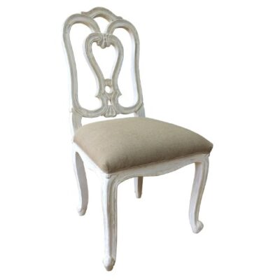 A beautiful French Style Shabby Chic Dining Chair in White Distressed Finish. Upholstery in Natural Linen Fabric. FULL RANGE OF MATCHING FURNITURE IS AVAILABLE FOR BEDROOM FURNITURE, LIVING ROOM FURNITURE, KITCHEN, DINING ROOM FURNITURE, BATHROOM & HALL A beautiful French Style Shabby Chic Dining Chair in White Distressed Finish. Upholstery in Natural Linen Fabric. FULL RANGE OF MATCHING FURNITURE IS AVAILABLE FOR BEDROOM FURNITURE, LIVING ROOM FURNITURE, KITCHEN, DINING ROOM FURNITURE, BATHROOM & HALL A beautiful French Style Shabby Chic Dining Chair in White Distressed Finish Upholstery in Natural Linen Fabric FULL RANGE OF MATCHING FURNITURE IS AVAILABLE FOR BEDROOM FURNITURE LIVING ROOM FURNITUR 0 400x400