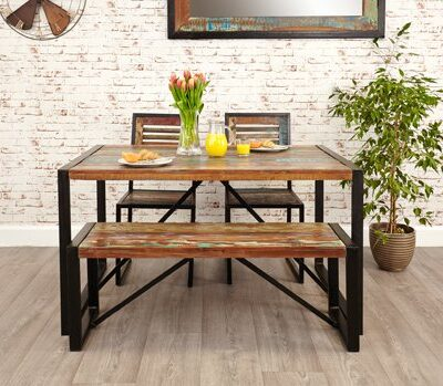 Baumhaus Urban Chic Small Dining Bench Baumhaus Urban Chic Small Dining Bench Baumhaus Urban Chic Dining Table Small 0 1 400x349