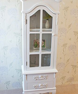 Stunning Casamore White Limoges Antique Style Glass Door Display Cabinet - FREE DELIVERY Stunning Casamore White Limoges Antique Style Glass Door Display Cabinet – FREE DELIVERY Beautiful Vintage Style Casamore Limoges Tall Display Cabinet with Casing Sways White Finish 0 333x400