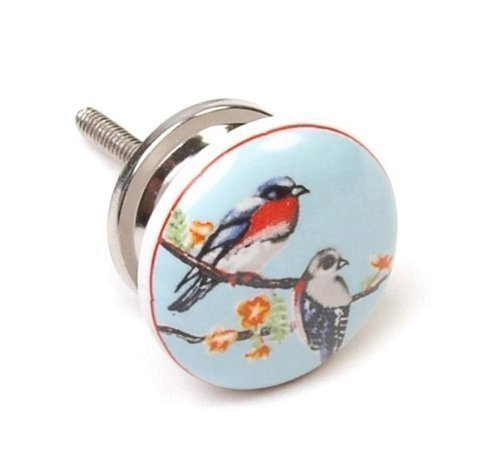 Kitchen Cabinet Handles Amazon Uk: Birds Ceramic 38mm Cupboard Knob Cabinet Knob Kitchen