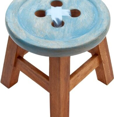 CHILD´S BUTTON STOOL IN BLUE. BEAUTIFUL SHABBY CHIC STYLE STOOL CHILD´S BUTTON STOOL IN BLUE. BEAUTIFUL SHABBY CHIC STYLE STOOL CHILDS BUTTON STOOL IN BLUE BEAUTIFUL SHABBY CHIC STYLE STOOL 0 391x400