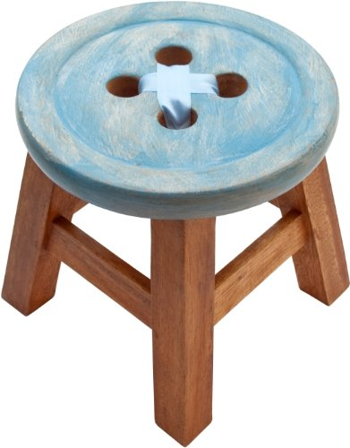 CHILD´S BUTTON STOOL IN BLUE. BEAUTIFUL SHABBY CHIC STYLE STOOL CHILDS BUTTON STOOL IN BLUE BEAUTIFUL SHABBY CHIC STYLE STOOL 0