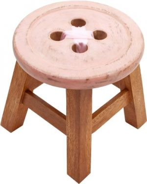 CHILD´S BUTTON STOOL IN PINK. BEAUTIFUL SHABBY CHIC STYLE STOOL CHILDS BUTTON STOOL IN PINK BEAUTIFUL SHABBY CHIC STYLE STOOL 0 300x375