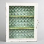 Cream Green Wooden Glass Wall Display Cabinet Shelf Unit Shabby Chic Vintage Cream Green Wooden Glass Wall Display Cabinet Shelf Unit Shabby Chic Vintage 0 150x150