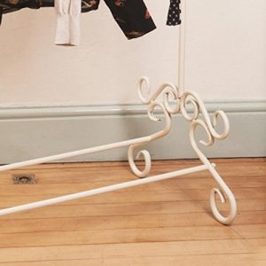 Cream Vintage Metal Clothes Rail Clothing Stand Chic