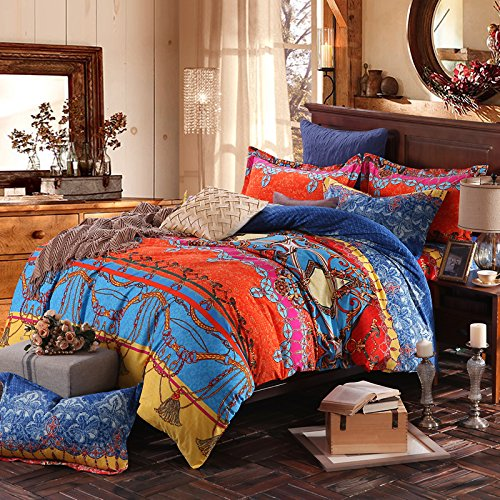 Fadfay Brand Colorful Exotic Bohemian Duvet Covers Queen King Size Boho Bedding Set Shabbychic London Co Uk