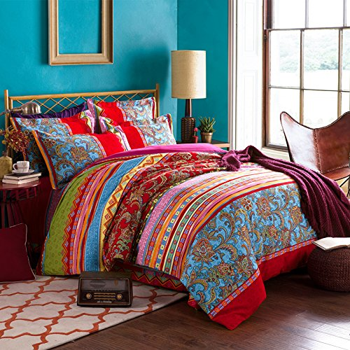 bohemian duvet cover king fadfay colorful bohemian duvet covers king size 4856