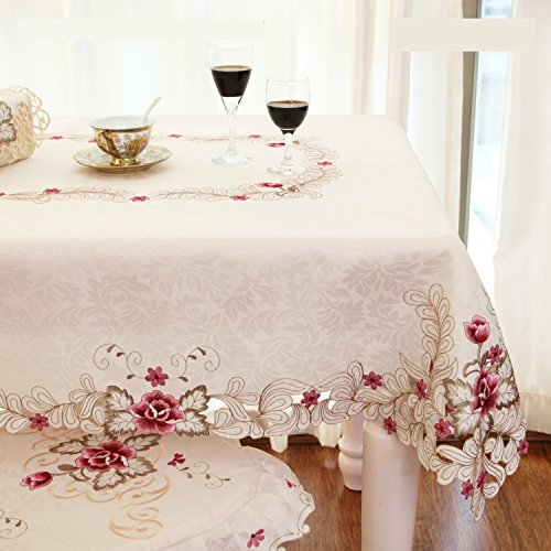 Fadfay Home Textile Elegant Embroidery Table Cloth Modern