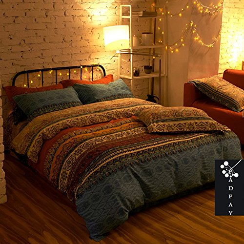 FADFAY Home Textile,Fashion Boho Bedding Set,Modern Bohemian Duvet Covers,100% Cotton Brand Bedding Set,4Pcs FADFAY Home TextileFashion Boho Bedding SetModern Bohemian Duvet Covers100 Cotton Brand Bedding Set4Pcs 0