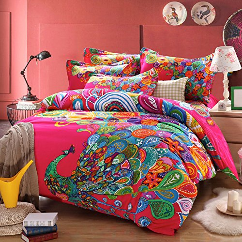 Fadfay Home Textile Elegant Colorful Rainbow Stripe