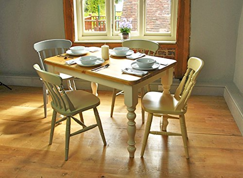Farmhouse Table 5 X3 Painted Legs Fawley Cream With
