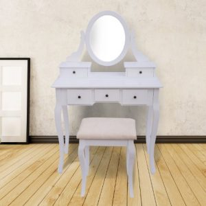 Homcom Antique Style Shabby Chic Dressing Table With