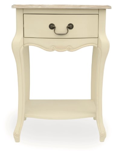 Cream Bedside Tables: Juliette Shabby Chic Champagne 1 Drawer Bedside Table