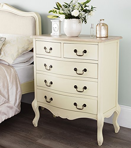 Juliette Shabby Chic Champagne Chest Of Drawers French