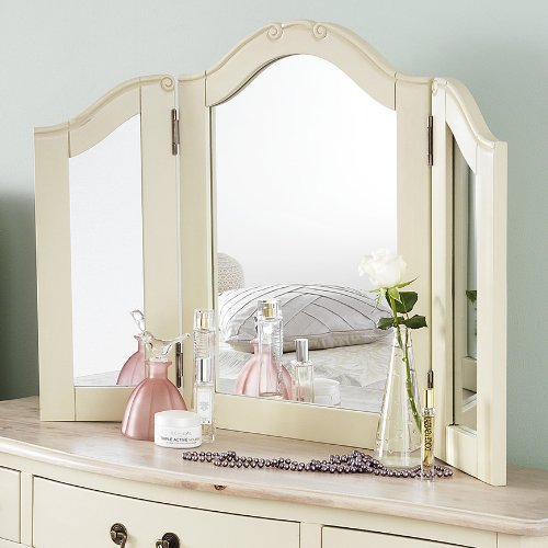 Juliette Shabby Chic Champagne Dressing Table Mirror Only Juliette Shabby Chic Champagne Dressing Table Mirror Only 0