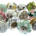 Mixed Set of Vintage Style Ceramic Cupboard Knobs x Pack 12 (MG-251) – 'Mango Tree' TM Registered Product Mixed Set of Vintage Style Ceramic Cupboard Knobs x Pk 12 GEE 02 Vintage Chic TM 0 150x150