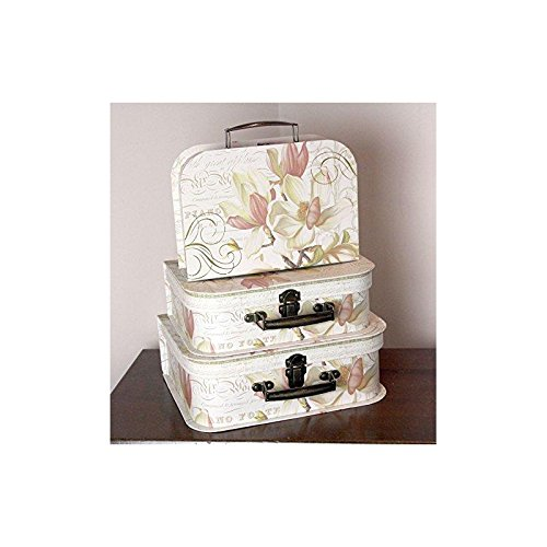 new set of 3 x vintage shabby chic floral piano style storage boxes suitcase shabbychic london. Black Bedroom Furniture Sets. Home Design Ideas