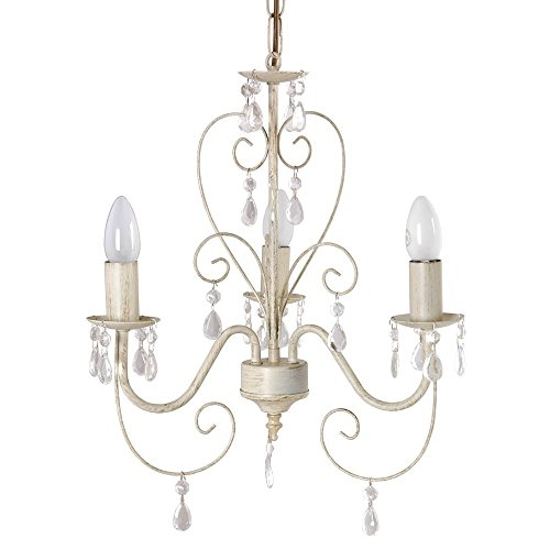 Ornate Vintage Style Shabby Chic 3 Way Ceiling Light Chandelier With Beautiful Acrylic Jewels Ornate Vintage Style Shabby Chic 3 Way Ceiling Light Chandelier With Beautiful Acrylic Jewels 0