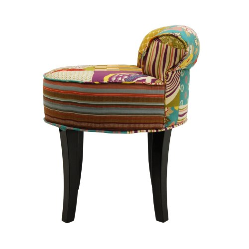 Multi Coloured Fabric Dining Chairs
