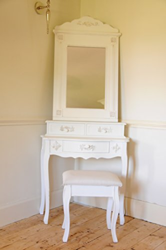 Paris Shabby Chic French Style Dressing Table With Mirror