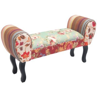 ROSES - Shabby Chic Chaise Pouffe Stool / Wood Legs - Multi-coloured ROSES – Shabby Chic Chaise Pouffe Stool / Wood Legs – Multi-coloured ROSES Shabby Chic Chaise Pouffe Stool Wood Legs Multi coloured 0 400x400