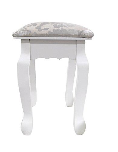 Rebecca Stool Small Chair Little Bench Ottoman White