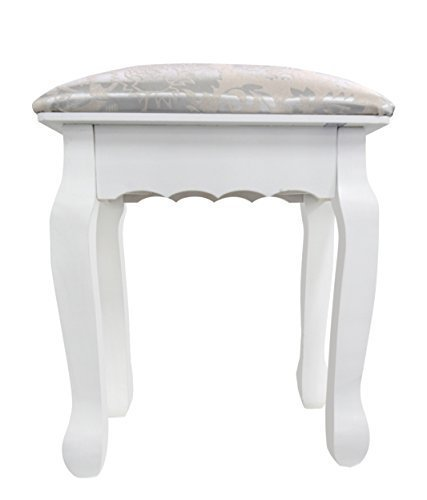 Lovely Rebecca Stool Small Chair Little Bench Ottoman White Antique Silver  Decorations Ideal For Your Bedroom Or