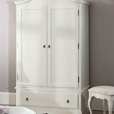 Romance Double Wardrobe, Stunning French Antique White wardrobe with large drawer (antique white) Romance Double Wardrobe, Stunning French Antique White wardrobe with large drawer (antique white) Romance Double Wardrobe Stunning French Antique White wardrobe with large drawer 0 400x400