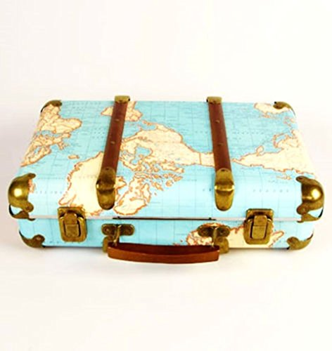 Sass & Belle Around The World Vintage Map Suitcase Sass Belle Around The World Vintage Map Suitcase 0