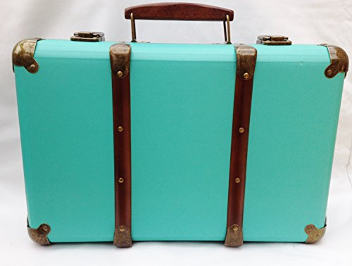 Sass & Belle Turquoise Retro Storage Case Suitcase Sass Belle Turquoise Retro Storage Case Suitcase 0