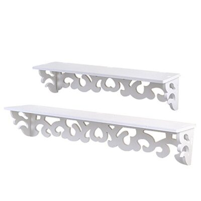 Set of 2 White Shabby Chic Filigree Style Shelves Cut Out Design Wall Shelf Home Set of 2 White Shabby Chic Filigree Style Shelves Cut Out Design Wall Shelf Home Set of 2 White Shabby Chic Filigree Style Shelves Cut Out Design Wall Shelf Home 0 400x400