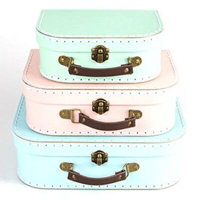Set of 3 Pastel Coloured Blue Green Pink Retro Suitcases Storage Boxes Set of 3 Pastel Coloured Blue Green Pink Retro Suitcases Storage Boxes Set of 3 Pastel Coloured Blue Green Pink Retro Suitcases Storage Boxes 0 400x400