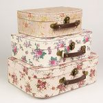Set of 3 Vintage Rose Suitcases Storage Boxes Set of 3 Vintage Rose Suitcases Storage Boxes 0 150x150