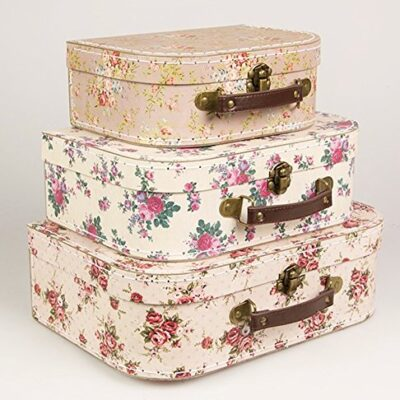 Set of 3 Vintage Rose Suitcases Storage Boxes Set of 3 Vintage Rose Suitcases Storage Boxes Set of 3 Vintage Rose Suitcases Storage Boxes 0 400x400