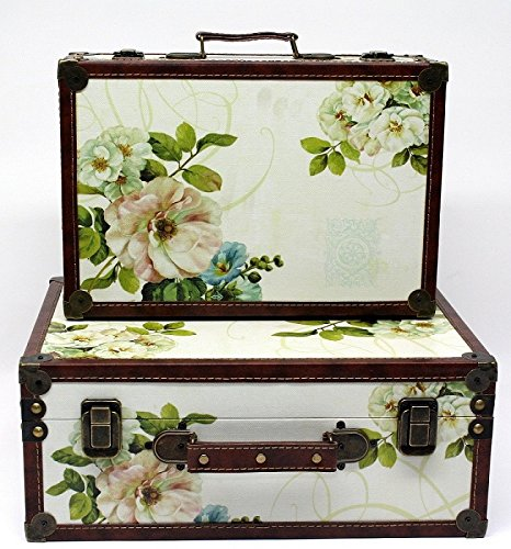 Shabby Chic Vintage Floral Design Suitcase Small