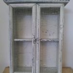 Shabby Chic Vintage Style Antique White Wooden Cabinet Kitchen Cupboard Mesh Doors with Shelf & Hooks Shabby Chic Vintage Style Antique White Wooden Cabinet Kitchen Cupboard Mesh Doors with Shelf Hooks 0 150x150