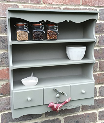 Wall Hanging Shelf Display Cabinet Unit With Drawers Chic Shabby Chic Cupboard Shabbychic London Co Uk